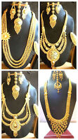 Indian 22K Gold Plated Variation Bridal Gorgeous Necklace Earrings tikka ring