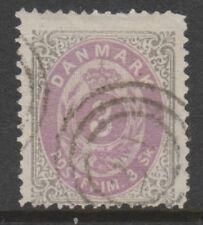 Denmark - 1870/74, 3sk Lilac-Purple & Grey stamp - F/U - SG 41