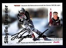 Sibylle BRUN autographe carte original signé ski alpin + a 151706