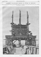 1905 5x Antique Engineering Prints-Scherzer Rolling Lift Bridge Over River Swale