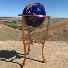 "36"" Tall World Globe Amber Pearl w/Tripod Copper Bronze Floor Stand"