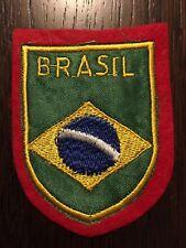 Patch toppa CM8X6 scudetto in stoffa ricamato BRASIL BRASILE