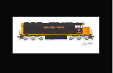 "Northern Pacific SD45 11""x17"" Matted Print Andy Fletcher signed"