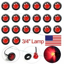 "20X Mini 3/4"" Red LED Clerance Marker Bullet Lights Lamps for Truck Trailer Bus"