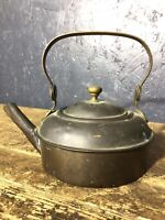 Vintage Antique Brass Copper Kettle Teapot