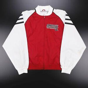 ADIDAS  Red 00s Nylon Activewear Track Jacket Boys XL