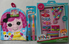 Lalaloopsy 3pcs Set - Twin Pack Toothbrushes, Wash Mitt, 18 Piece Accessory Set