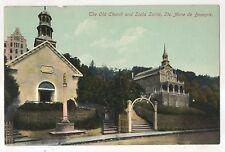Old Church and Scala Santa, Ste. Saint Anne de Beaupre QC Vintage QuebecPostcard