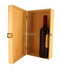 CASSETTA in legno naturale 2 bottiglie vino