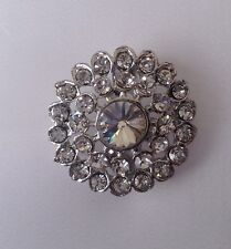 Diamante Brooch ,bridal cake topper 2.5 cm