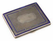 Vintage Silver & Enamel Snuff Box / Cigarette Case 102.8 grams, Monogrammed