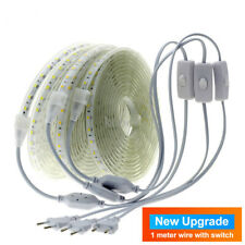 220V LED Strip 5050 Cold White Warm White Flexible Waterproof LED Strip Light.