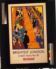 Brightest London is best reached by Underground,1924,Escalators,London Subway