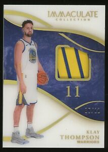 2019-20 Immaculate Acetate Klay Thompson Patch 5/11 Golden State Warriors
