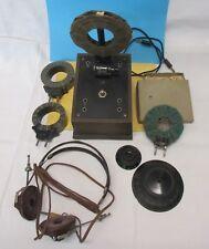 uralt Detektor / Detektorempfänger mit Zubehör ( auch : BALDUF 75 / 200 )