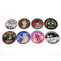 8Style Patch Embroidered Iron On Applique patches for clothes DIY Accessories EB