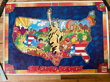 "Vintage 1972 Us National Guard ""The Guard Belongs Pop Art Poster Peter Max styl"