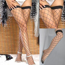 PLUS SIZE Sexy Fishnet Stockings high lace tops size soft great stretch