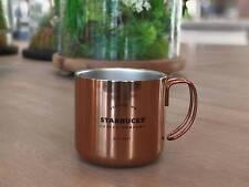 Starbucks Mug Coffee Copper Seattle Stainless Steel Handle Camping 12 oz 2017