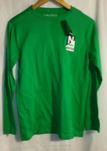 Boy's Nautica $29.50 Green Long Sleeve T-Shirt Sizes Large 14/16 New with Tags