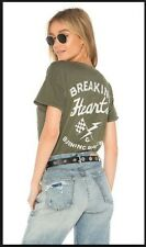 Junk Food Burning Hearts & Burning Rubber Tee in Green [New] Urban Outfitters
