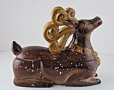 Candy Dish Figural Reindeer Tabletops Unlimited Winter Wonderland HP Rare