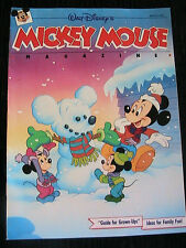 MICKEY MOUSE magazine, Walt Disney's Winter 1990 comics, games, more *RARE