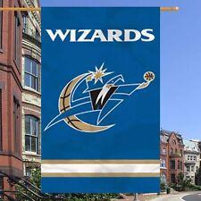 """Washington Wizards NBA Banner 44"""" x 28"""" Navy Blue Team Logo Applique"""
