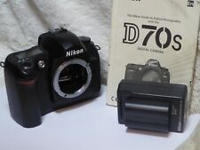Nikon D D70s 6.1MP Digital SLR Camera - Black (Body only) very low shutter count