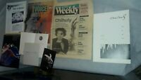 6 Chihuly Items: Brochures, Tacoma & Seattle Papers, 1984 Decade of Glass++++++