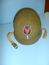 b3987 WW 2 US  helmet shell hand painted 1st Lt 34th Infantry Division ir15a
