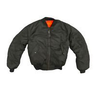MA1 Jacket Original US Concord Flight Bomber Pilot Army Military Padded Black