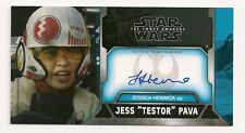 2017 TOPPS STAR WARS THE FORCE AWAKENS 3D JESSICA HENWICK AUTO JESS TESTOR PAVA