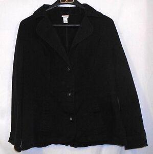 VENEZIA womens stretch black blazer style jacket size 14