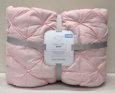 New Pottery Barn Kids Sadie Ruffle Crib Toddler Quilt~Pink