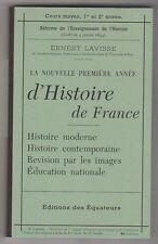 La nouvelle première année d'histoire de France Ernest Lavisse Fac similé