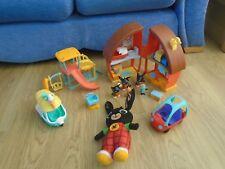 Bing Bunny Paquete, Playground, coche, House Ice Cream Van, hablando suave Bing, Figuras
