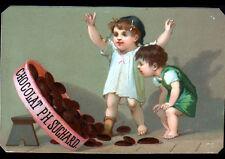 IMAGE CHROMO CHOCOLAT Suisse SUCHARD / ENFANT & BOITE de CHOCOLAT