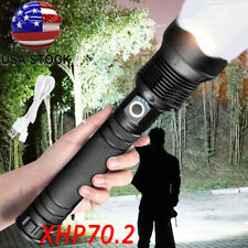 350000 lumens XHP70.2 Most Powerful LED flashlight Rechargeable Zoom Torch xhp70