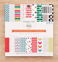 Becky Higgins Project Life CONFETTI EDITION 6x6 Paper Pad 36 Papers 18 Designs
