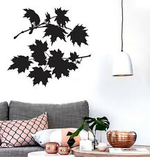 Vinyl Wall Sticker Leaves Maple Tree Bush Beautiful Petals (n545)