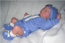 "Crochet pattern Baby/Reborn: ""Boy Blue"" 4 pce outfit MPN CRO106 by Frandor Forma"