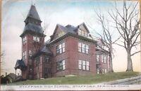 1910 Stafford Springs, CT Postcard: Stafford High School - Connecticut Conn