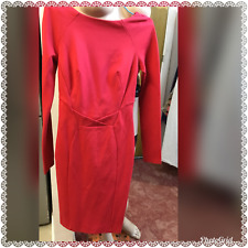 NEW COAST WIGGLE DRESS SIZE UK 6 US 2 RED 67% VISCOS PERFECT FOR VALENTINE'S DAY