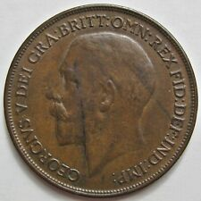 GREAT BRITAIN 1918 KING GEORGE V BRONZE ONE PENNY COIN (KM# 810)