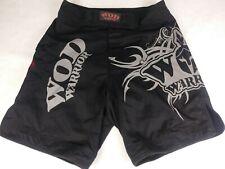 Wod Warrior Mma Men's Mixed Martial Arts Shorts Black Grey with Pocket Size 32