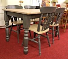 Farmhouse Table & Chair Sets with 5 Pieces and 4 Seats