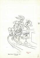 Bugs Bunny #188 Cover (1977) Pete Alvarado  Bugs leaves supermarket quick!