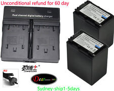 2XBattery+Charger for Sony NP-FV30 NP-FV50 NP-FV70 NP-FV100 FDR-AX100 AU-ship