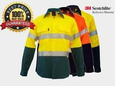 Hi Vis Work Shirt cotton drill 3M reflective Tape AUS/NZ standard